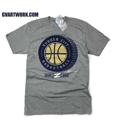 Akron Rubber City Basketball T shirt