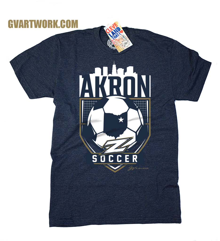 Akron Zips Soccer T Shirt Gv Art And Design