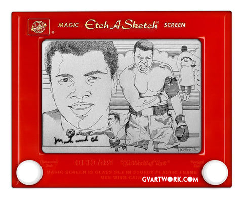 Limited Edition Muhammad Ali Etch A Sketch Artwork