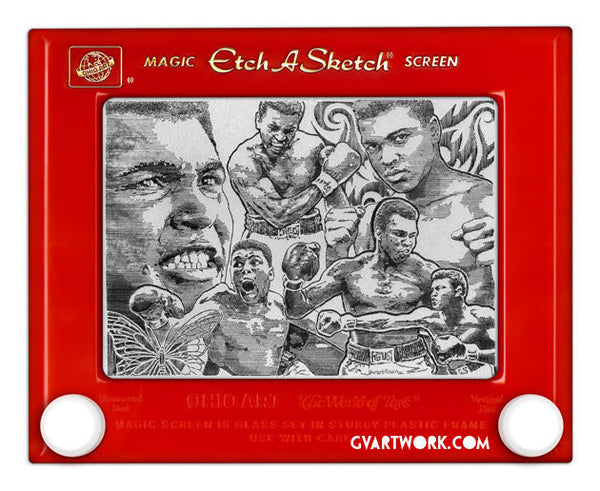 Muhammad Ali Limited Edition Etch T shirt Red/Silver
