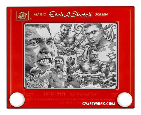 Muhammad Ali Etch A Sketch Artwork