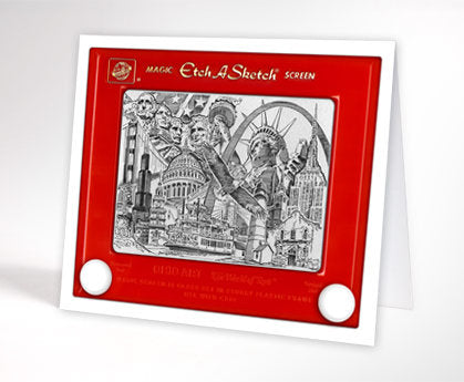 American Etch a Sketch - Greeting Cards