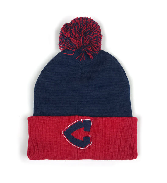 Arrowhead C Logo Pom Pom Winter Hat