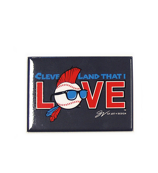 Cleveland That I Love Baseball Magnet