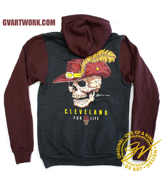 Cleveland Basketball For Life Zip Up Hoodie
