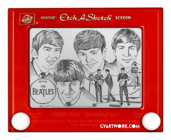 Limited Edition Beatles Etch A Sketch Artwork