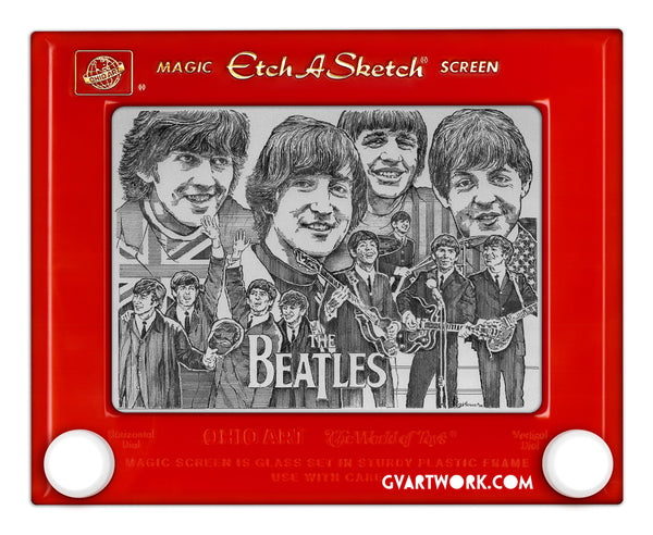 Limited Edition Beatles Etch A Sketch Artwork 50 years