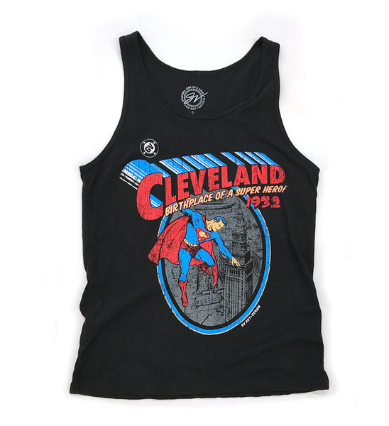 Cleveland - Birthplace of a Superhero Limited Edition Black Tank Top
