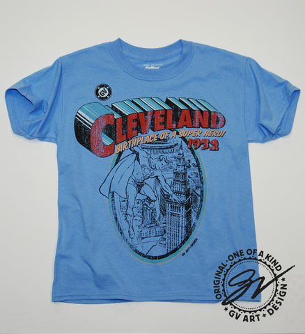 Kids Cleveland - Birthplace of  Superhero T shirt