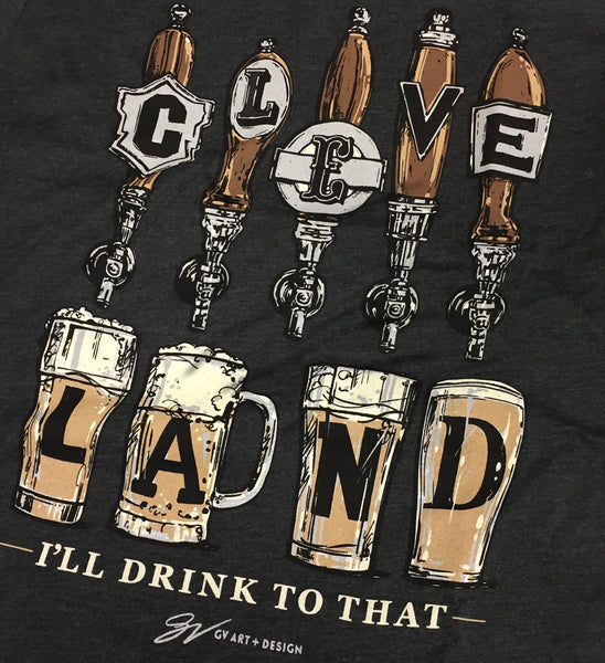Cleveland. I'll Drink To That Beer Taps T shirt - Black