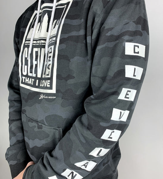 Black Camo Cleveland That I Love Hooded Sweatshirt