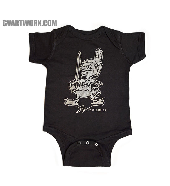 Black Team Cleveland onesie