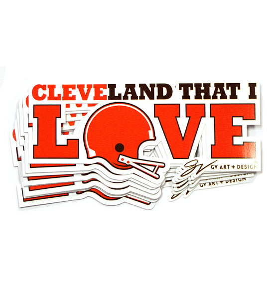 Cleveland That I Love Football Sticker