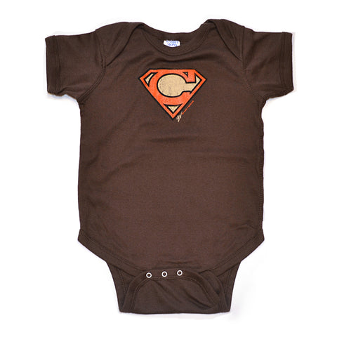 Super C Orange and Brown Onesie