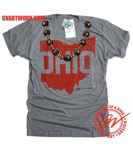 Womens The Buckeye State Necklace T shirt