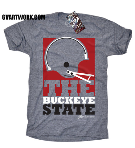 THE Buckeye State Big Helmet T shirt