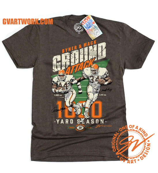 Byner and Mack Ground Attack 1,000 Yard Season shirt