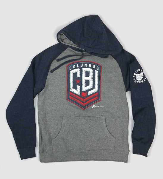 CBJ Columbus Hockey Two Tone Hooded Sweatshirt