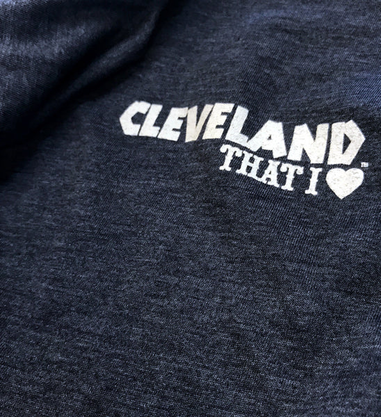 Cleveland Baseball Feather Long Sleeve Hooded T shirt