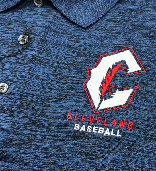 Cleveland Baseball C Feather Navy Polo