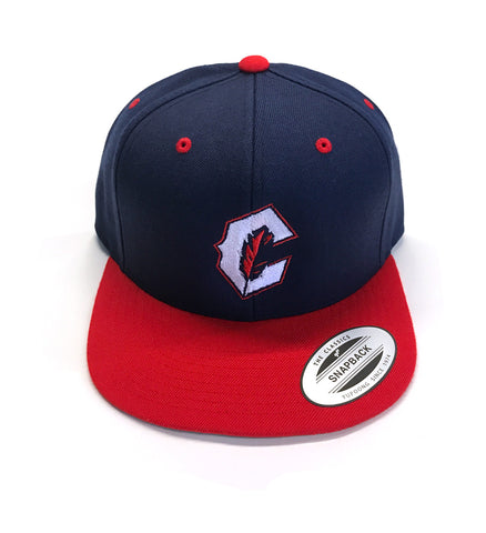Cleveland C Feather Snap Back - Navy/Red