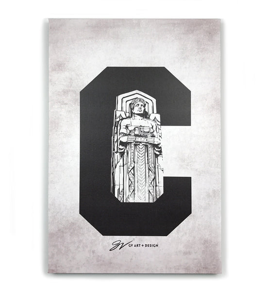 Cleveland C Guardian Canvas Artwork