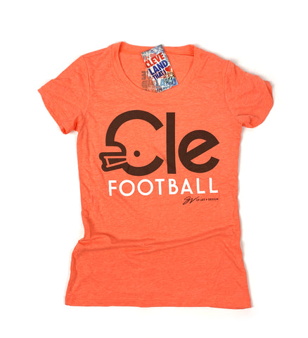 Womens CLE Football Type T shirt