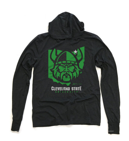 CSU Vikings Ohio Long Sleeve Hooded T shirt