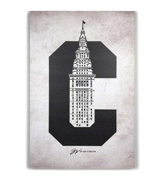 Cleveland C Terminal Tower Canvas Artwork