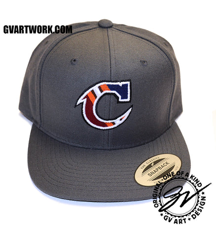 Team Cleveland C Snap Back Hat Dark Grey