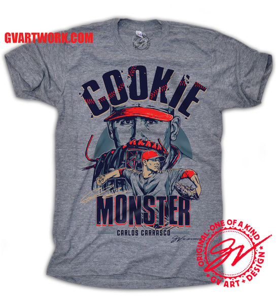 Official Carlos Carrasco Cookie Monster T shirt