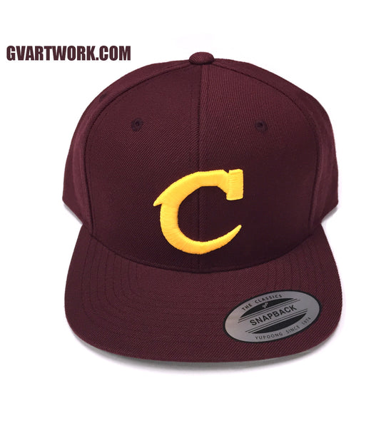 Maroon Team Cleveland C Snap Back