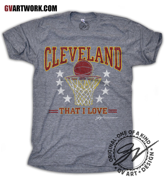 Cleveland That I Love Wine and Gold Basketball