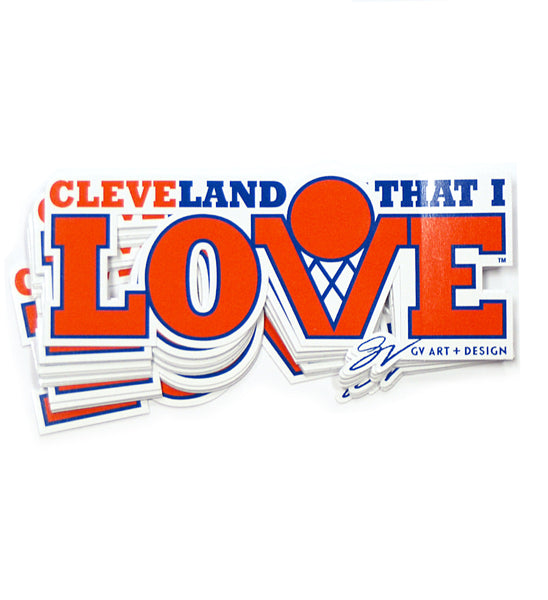 Cleveland That I Love Basketball Sticker