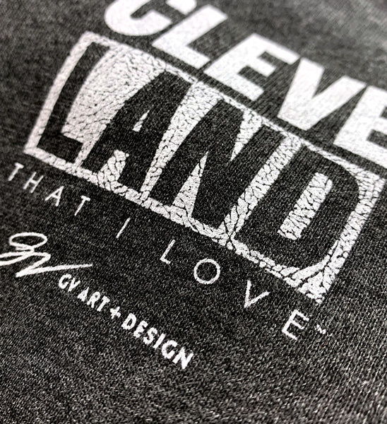 CleveLAND Cement Print Hooded Sweatshirt