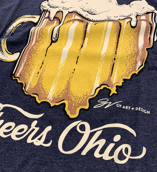 Cheers Ohio Shirt - Heather Black