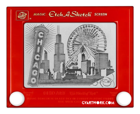 Chicago Etch A Sketch Giclee Print