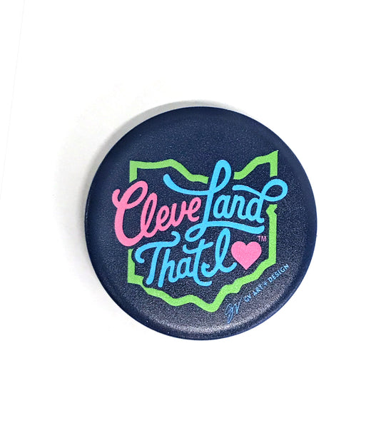 Cursive Navy Cleveland That I Love Pop Socket