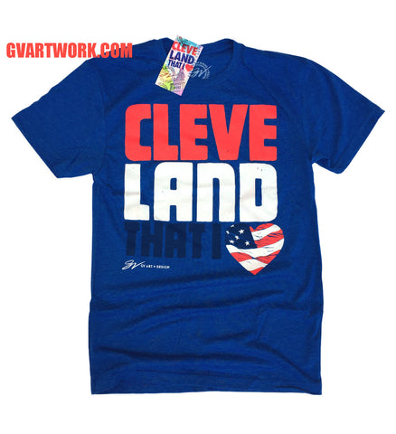 Royal Cleveland That I Love USA Red White and Blue shirt