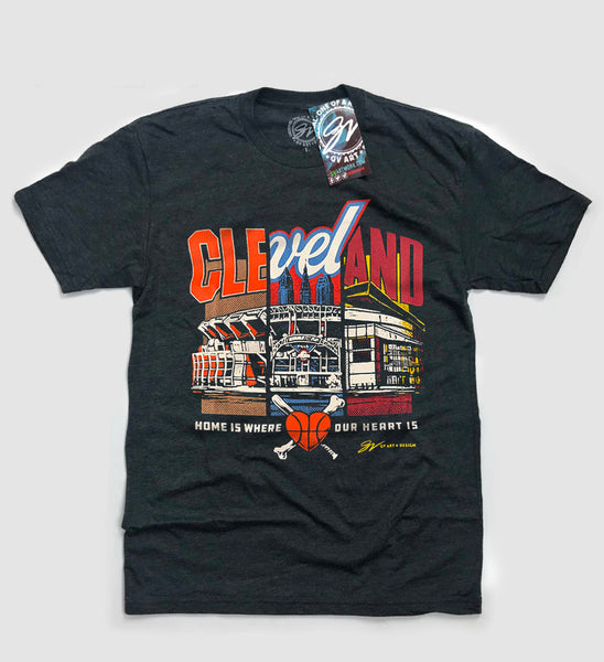 Cleveland Home Is Where The Heart Is T shirt
