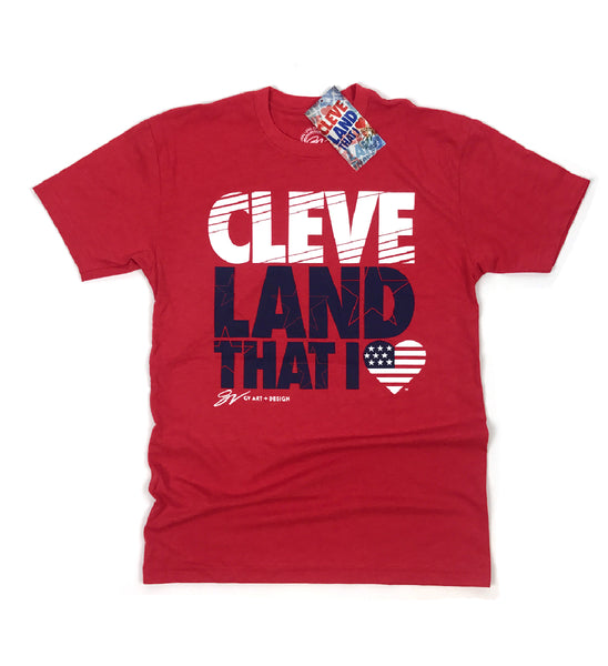 New Red Cleveland That I Love USA Shirt