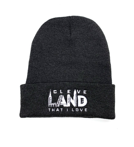 Cleve Landmarks Charcoal Winter Hat