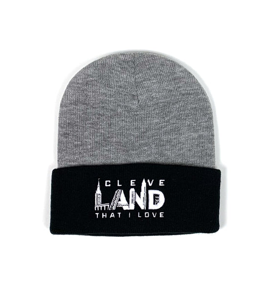 Cleve Landmarks Grey/Charcoal Winter Beanie