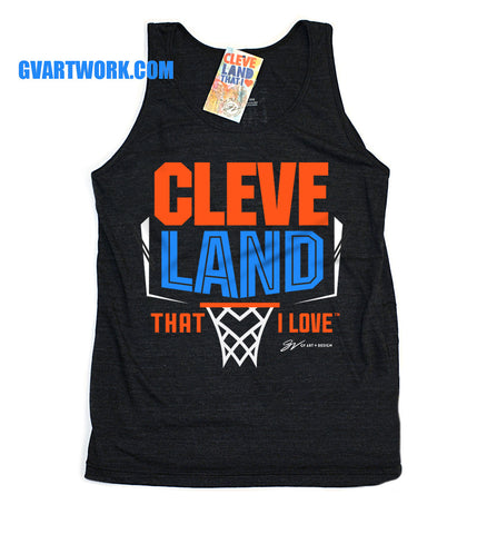 Cleveland Basketball That I Love 90's Era Tank Top