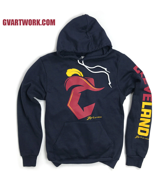 Navy Cleveland Basketball C Logo Hooded Sweatshirt