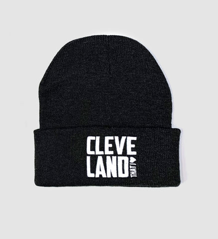Cleveland That I Love Charcoal Winter Hat