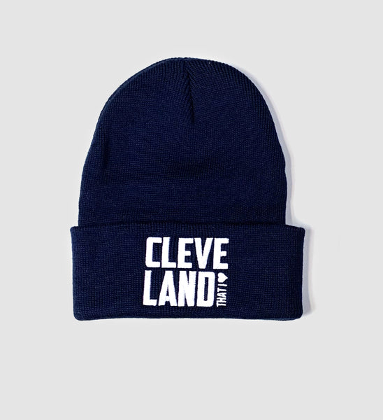 Cleveland That I Love Navy Winter Hat