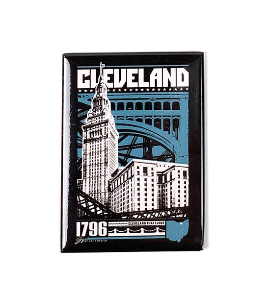 Cleveland Bold Graphic Magnet