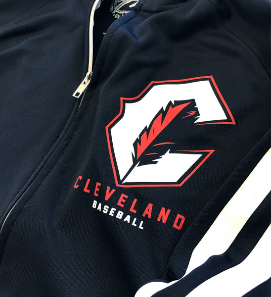 Cleveland C Feather Striped Track Jacket