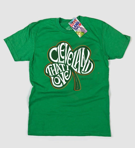 Cleveland That I Love Shamrock T Shirt